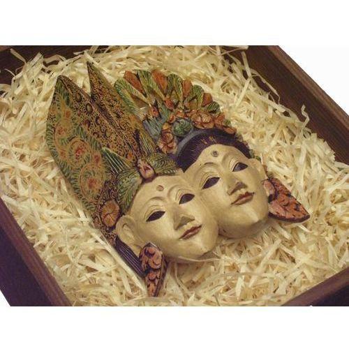 Wyspa bali Pierwszorzędny prezent rzeźba maski królewska para i