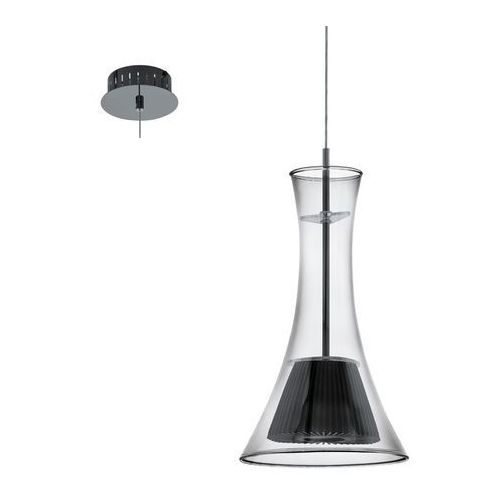 Eglo Lampa wisząca musero 93794 zwis oprawa 1x5,4w led niklowana czarna/przezroczysta