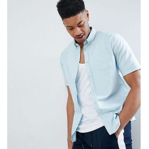 tall basic oxford short sleeve shirt - blue, D-struct