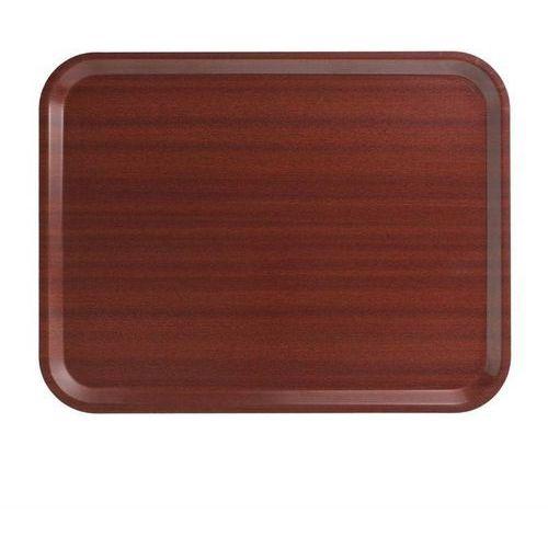 Taca serwisowa mahoń | 43x33x(h)1,5cm marki Cambro
