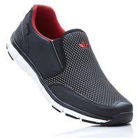 Buty sportowe wsuwane Lico bonprix czarno-czerwony