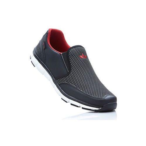Buty sportowe wsuwane Lico bonprix czarno-czerwony, w 6 rozmiarach