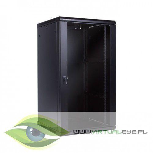 Linkbasic szafa wisząca 19 22u 600mm drzwi szklane