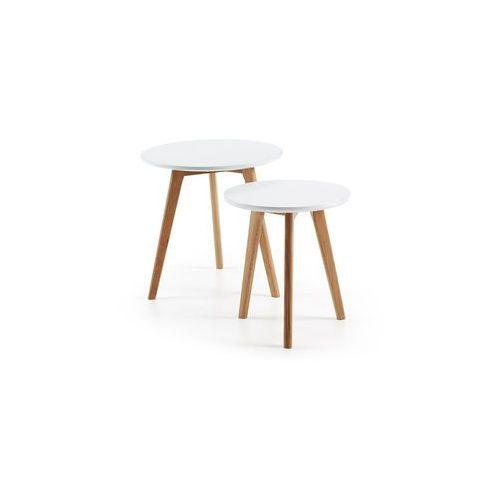:: drewniane stoliki kawowe kirb (2 set) - drewniane marki Laforma