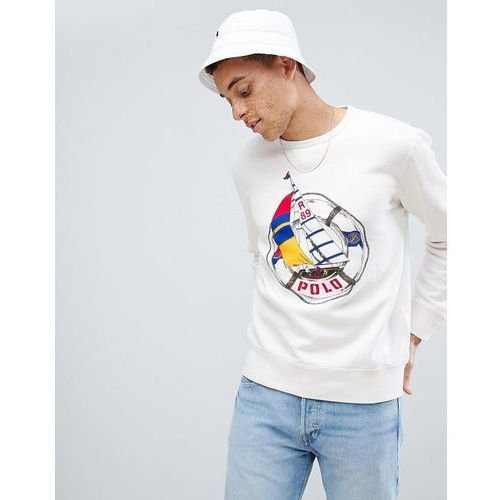 Polo Ralph Lauren CP-93 Capsule Sailboat Large Logo Sweatshirt in White - White, kolor biały