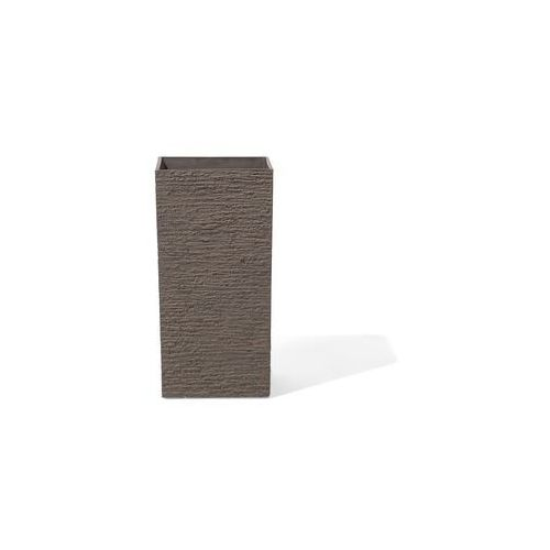 Doniczka ciemnobrązowa kwadratowa 30 x 30 x 60 cm GAZA
