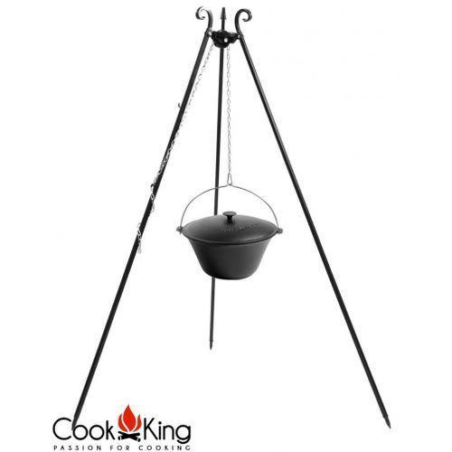Cookking Kociołek węgierski żeliwny emaliowany z pokrywą na trójnogu 8l