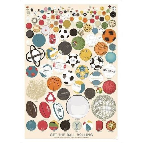 Plakat the great collection of 127 balls marki Follygraph