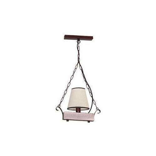 Lampa wisząca Luminex Adria 8726 lampa sufitowa 1x60W E14 brąz / beż, 8726