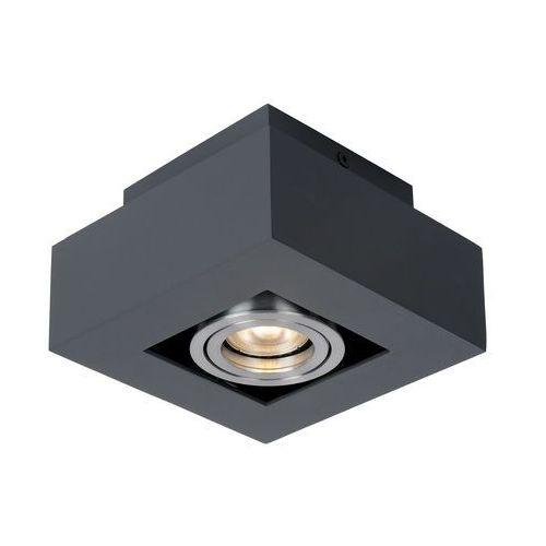 Plafon LAMPA sufitowa CASEMIRO IT8002S1-BK/AL Italux metalowa OPRAWA kwadratowy SPOT downlight czarny, IT8002S1-BK/AL