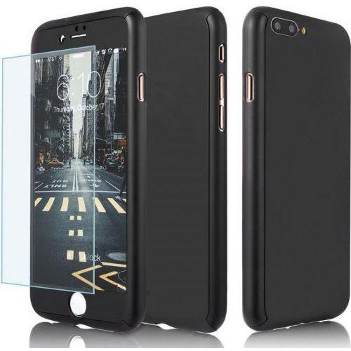Ekskluzywne czarne etui 360 do iphone 7 marki Memory king