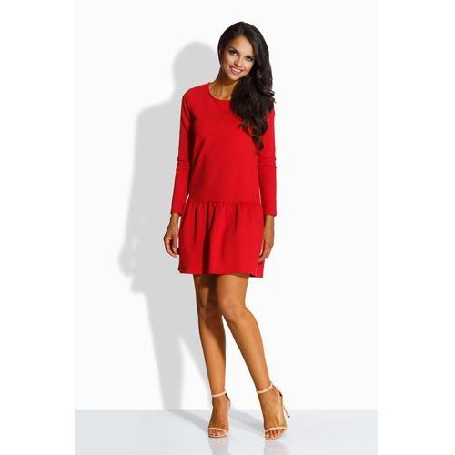 Lemoniade Czerwona sukienka z kokardą na plecach
