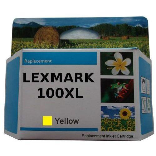 zastępczy atrament Lexmark 100XL [14N1071E] yellow 100% nowy