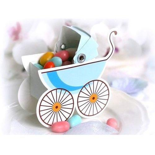 Ap Pudełeczka dla gości wózeczek błękitny - 10 szt. (5901157432353)