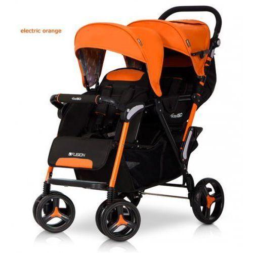 Wózek Bliźniaczy Spacerowy EasyGo Fusion Electric Orange, 05908214732005