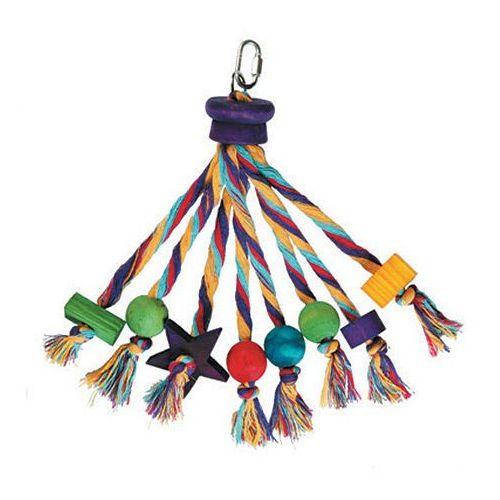 Rewelacyjna zabawka dla papug - karuzela ze sznura marki Hp birds
