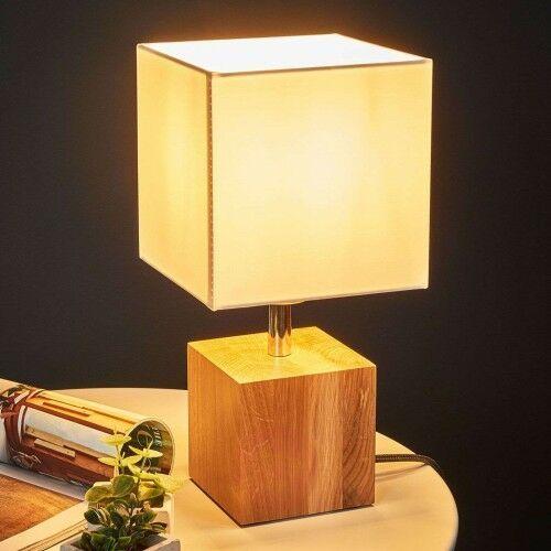Spot-light Drewniana lampa stołowa trongo, antracytowy kabel