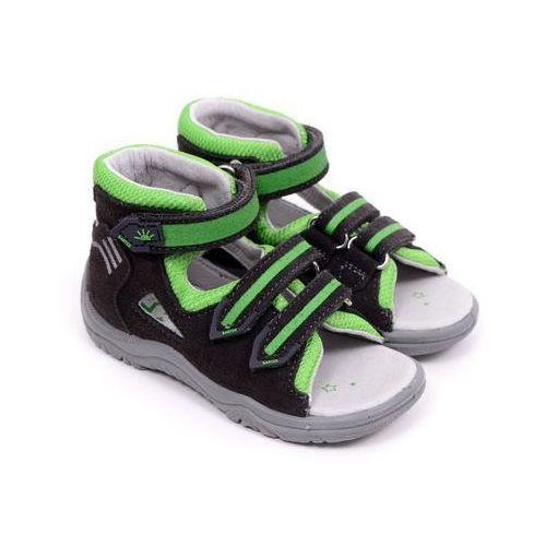 Sandały dziecięce  61592-0tx szaro zielony 20 szary marki Bartek