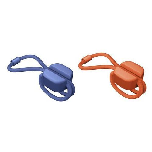 Bluelounge Uchwyt wielozadaniowy pixi s 8 szt. niebieskie i pomarańczowe (8886466091224)