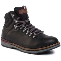 Trzewiki - outdoor hiking lace leather boot fm0fm02416 black 990 marki Tommy hilfiger