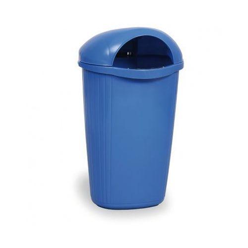 Zewnętrzny kosz na odpady na słupek DINOVA, niebieski