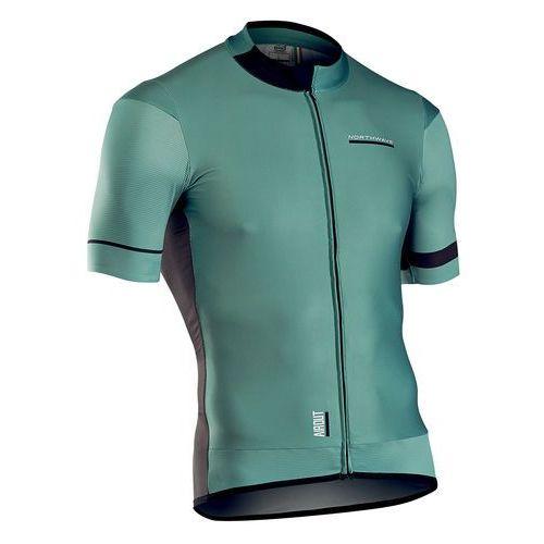 Northwave airout koszulka kolarska, krótki rękaw mężczyźni zielony/czarny l 2018 koszulki kolarskie (8030819010800)