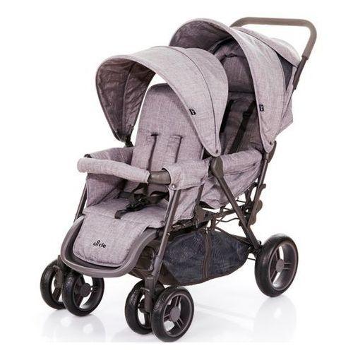 Abc design wózek tandem woven – grey 2018 (4045875047596)