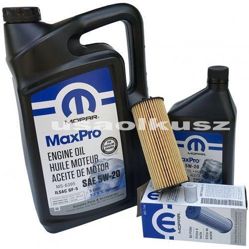Olej 5w20 oraz oryginalny filtr jeep wrangler 3,6 v6 -2013 marki Mopar