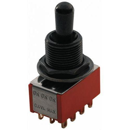 MEC przełącznik 3pozycyjny ON-ON-ON 4PDT, czarny