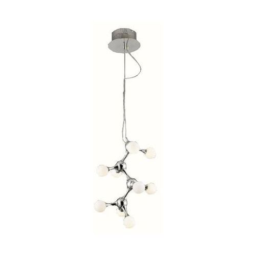 Azzardo neurono az0109 mp 6199-9 lampa wisząca zwis oprawa 9x10w g4 biały/chrom + żarówka led za 1 zł gratis! (5901238401094)