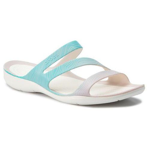 Crocs Klapki - swiftwater seasonal sandal w 205637 pool ombre/white