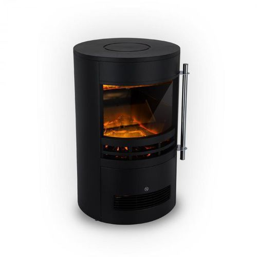 Klarstein brixen kominek elektryczny 900/1800 w instafire termostat kolor czarny (4060656105869)