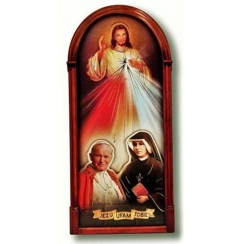 Pan jezus miłosierny z ojcem świętym i s. faustyną, marki Produkt polski