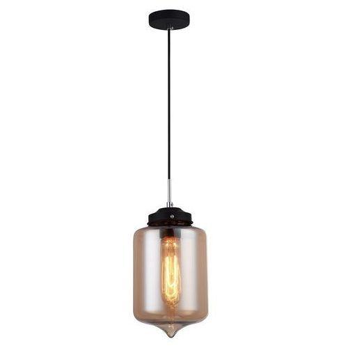 Skandynawska LAMPA wisząca TUBE MDM2095/1 C Italux szklana OPRAWA zwis szkło dymione, kolor Przydymiony