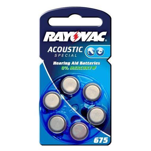 Rayovac 600 x baterie do aparatów słuchowych acoustic special 675ae