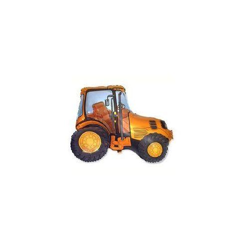 Go Balon foliowy traktor pomarańczowy - 62 cm - 1 szt.