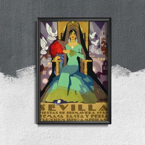 Plakaty w stylu retro Plakaty w stylu retro Fiesta de Primavera Sevilla