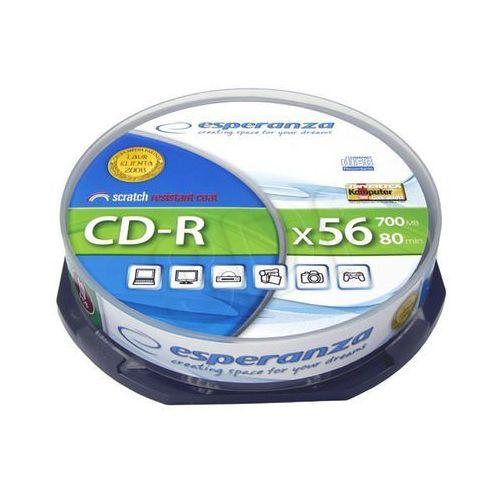 Płyty Esperanza CD-R 700MB 56x - Cake - 10szt. (5905784760032)