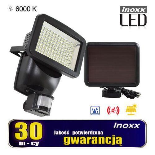 Lampa solarna naświetlacz led 120 diod smd z czujnikiem ruchu i zmierzchu marki Inoxx