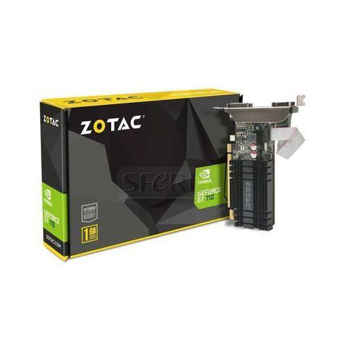 Karta graficzna Zotac GeForce® GT 710, 1GB DDR3 (64 Bit), HDMI, DVI, VGA - ZT-71301-20L (karta graficzna)