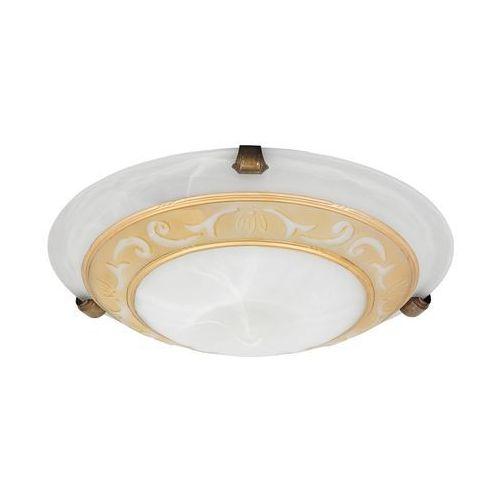 Rabalux Plafon lampa sufitowa laretta 1x60w e27 biały/brąz 3713 (5998250337135)