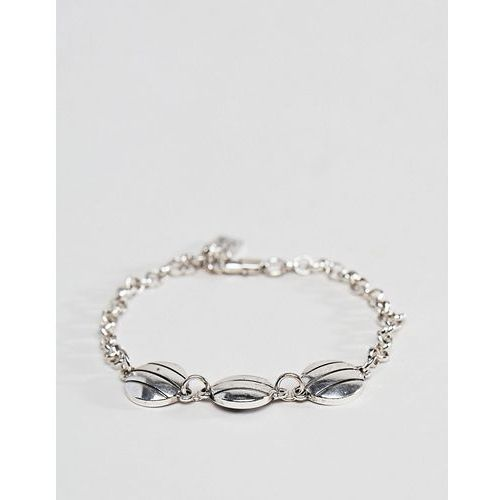 Icon brand antique silver chain bracelet with circular detail - silver