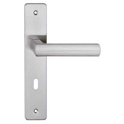 Klamka drzwiowa Metalbud Viva 72 mm na klucz nikiel satyna, VI7KN