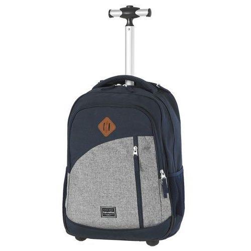Travelite Basics plecak na kółkach / kabinowy 20/47 cm / granatowy - granatowy
