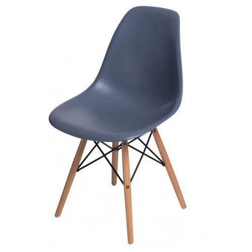 Krzesło p016w pp jasne drewniane nogi (ciemnoszare) d2 marki D2design