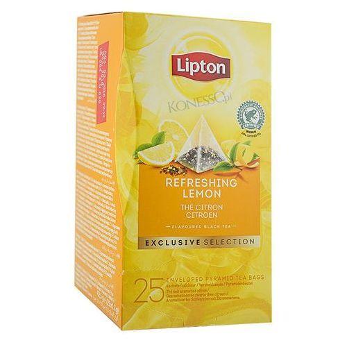 Czarna herbata Lipton Piramida Lemon 25 kopert