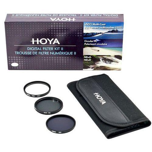 Zestaw filtrów Hoya 49mm UV(C) + CPL + NDx8 + Saszetka, YKITDG049
