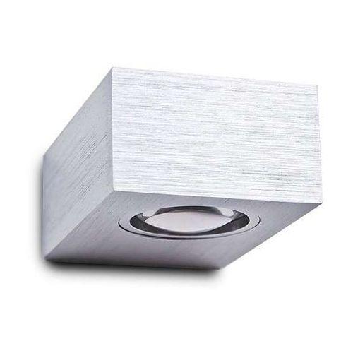 Kinkiet lampa ścienna potro 2 mb3357/2 metalowa oprawa led 6w prostokątna aluminium marki Azzardo