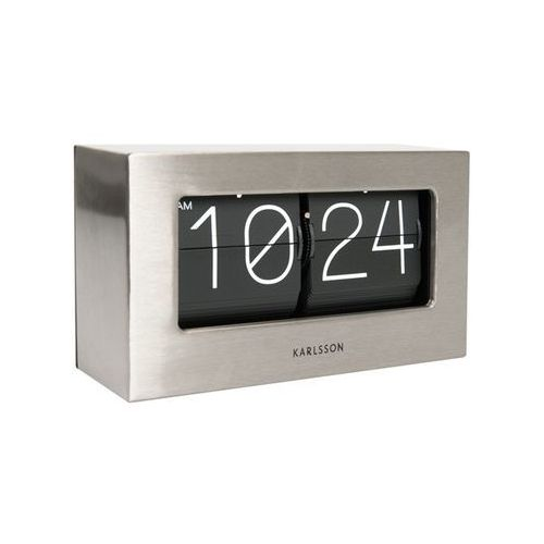 Zegar stołowo/ścienny Flip Clock Boxed steel by Karlsson