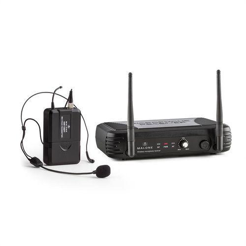 uhf-150-solo2 1-kanałowy zestaw mikrofonu bezprzewodowego uhf z mikrofonem nagłownym marki Malone